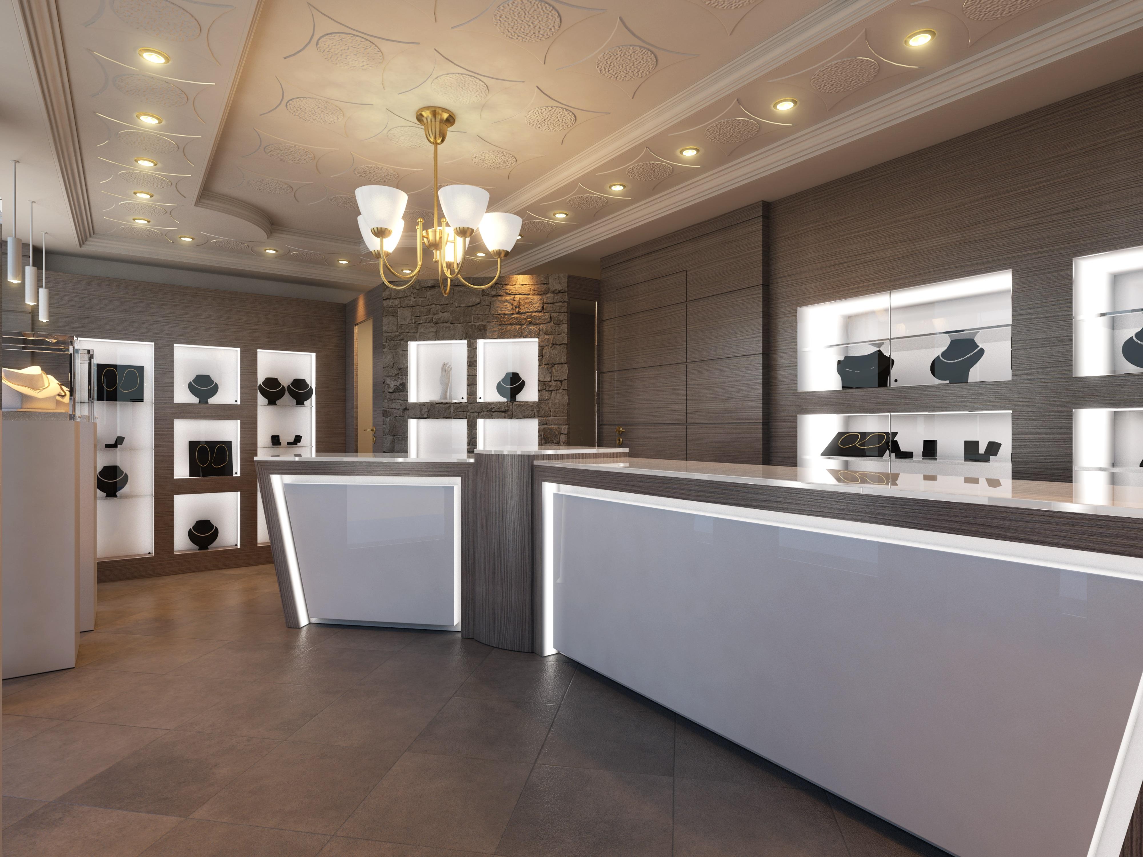 Arredamento negozi milano banchi piani mobili for Mobili di designer