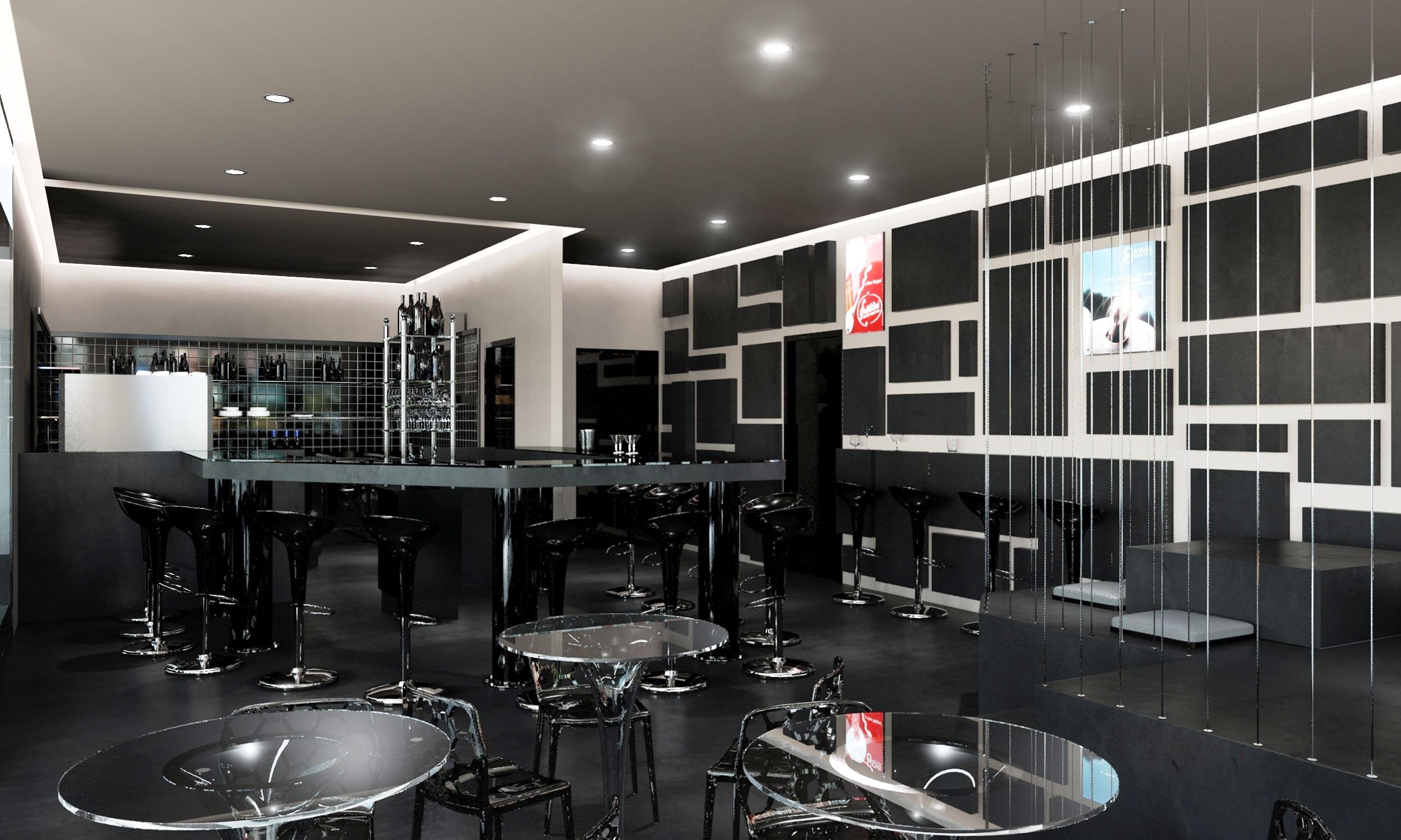 Arredamento bar bergamo banco tavoli sedie mensole di for Arredamento bar